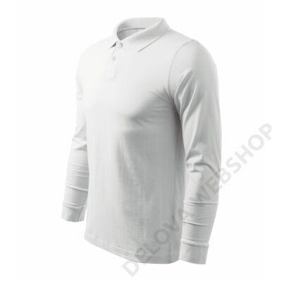 Single J. LS Galléros póló férfi, fehér