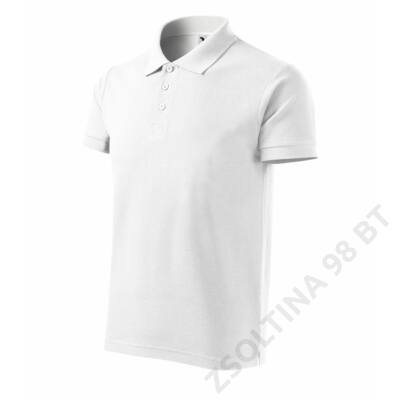 Cotton ADLER galléros póló férfi, fehér