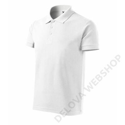 Cotton Heavy Galléros póló férfi, fehér