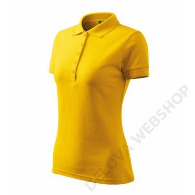 Pique Polo Galléros póló női, sárga