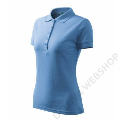 Pique Polo Galléros póló női, égszínkék