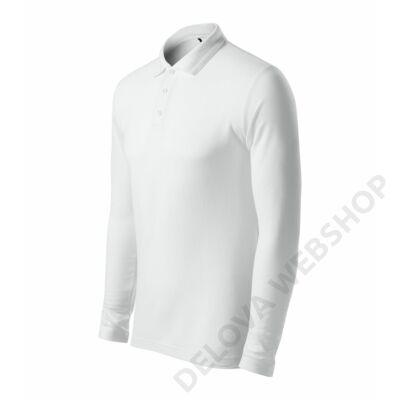 Pique Polo LS ADLER galléros póló férfi, fehér