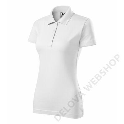 Single J. Galléros póló női, fehér