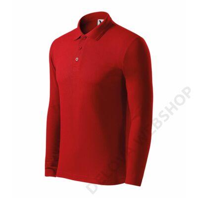 Pique Polo LS Galléros póló férfi, piros