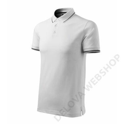 Perfection plain MALFINI galléros póló férfi, fehér