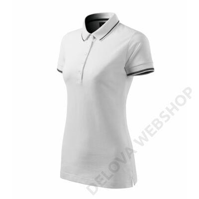 Perfection plain Galléros póló női, fehér