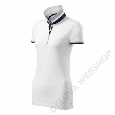 Collar Up Galléros póló női, fehér