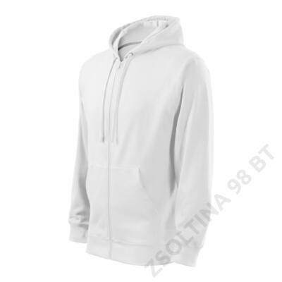 Trendy Zipper Felső férfi, fehér