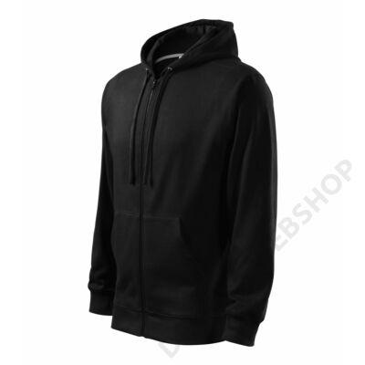 Trendy Zipper Felső férfi, fekete