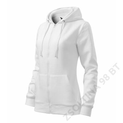 Trendy Zipper Felső női, fehér