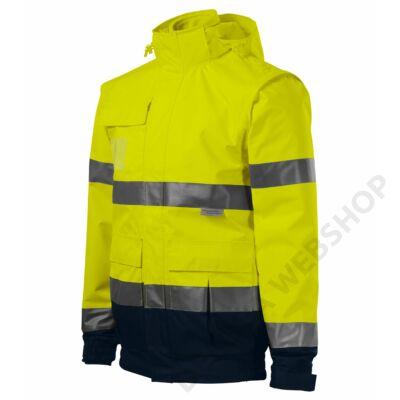 HV Guard 4 in 1 Jacket unisex, fényvisszaverő sárga