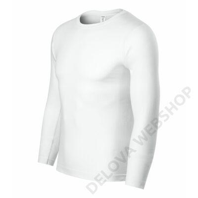 Progress LS Pólók unisex, fehér
