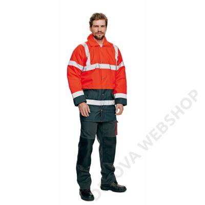 SEFTON kabát HV piros/navy