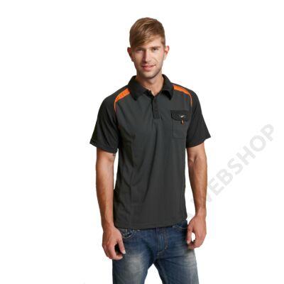 EMERTON tenisz póló fekete/narancs