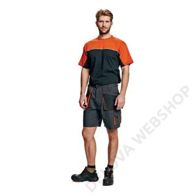 EMERTON rövidnadrág, fekte/narancs