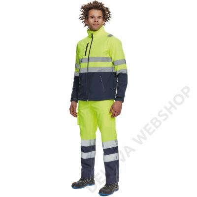 GRANADA HV SOFTSH.kabát, sárga/kék