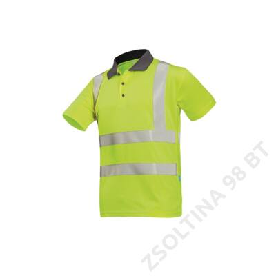 POPOLA HV  polo-shirt HV, sárga