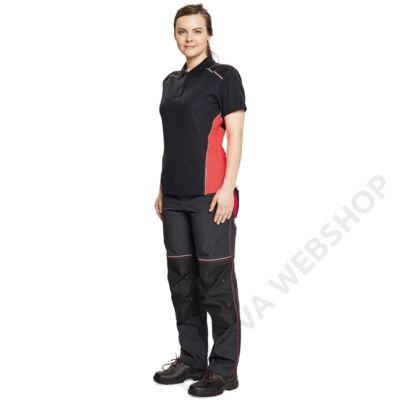 KNOXFIELD LADY galléros póló, szürke/piros