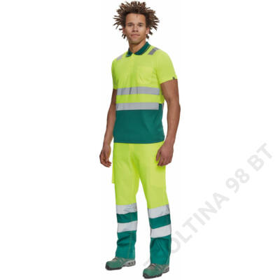 CADIZ HV galléros póló, sárga/kék