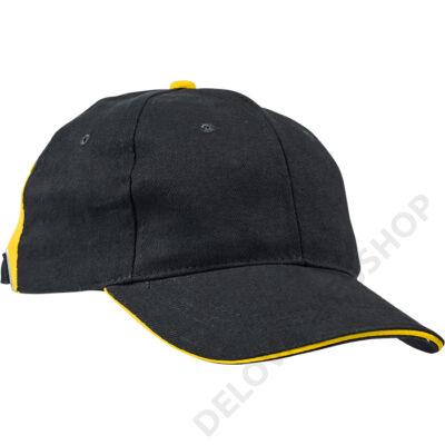 KNOXFIELD baseball sapka, fekete/sárga