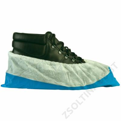 Cipővédő pp felső, kék csúszásgátló talp