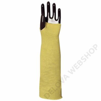 Kötött sárga kevlar karvédő, hő- és vágásbiztos, 45cm