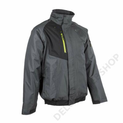 GOMA ripstop téli dzseki kapucnival, szürke/fekete