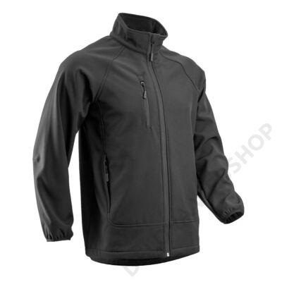 SOBA férfi softshell kabát, fekete