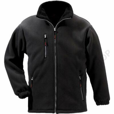 ANGARA cipzáros pulóver, fekete
