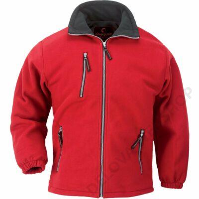ANGARA piros cipzáros pulóver -XS