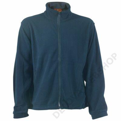 Polár pulóver cipzáros kék -XS