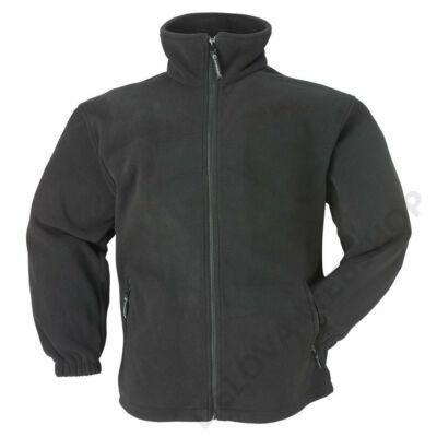 Polár pulóver cipzáros fekete -XS