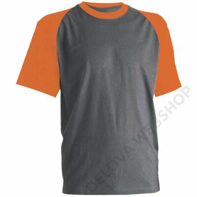 PADDOCK póló, szürke/narancs -L