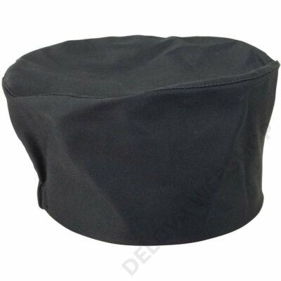 Szakácssapka lapos, fekete