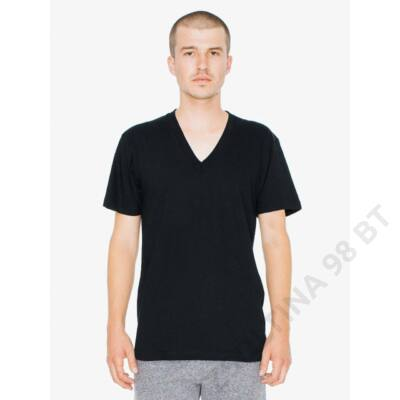 AA2456 UNISEX FINE JERSEY V-NECK T-SHIRT, Black