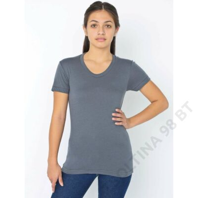 AABB301 WOMEN'S POLY-COTTON SHORT SLEEVE T-SHIRT, Asphalt