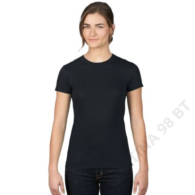 AN379 WOMEN'S FASHION BASIC FITTED TEE, Black