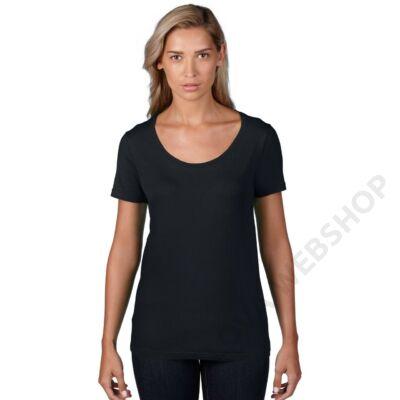 AN391 WOMEN'S FEATHERWEIGHT SCOOP TEE, Black
