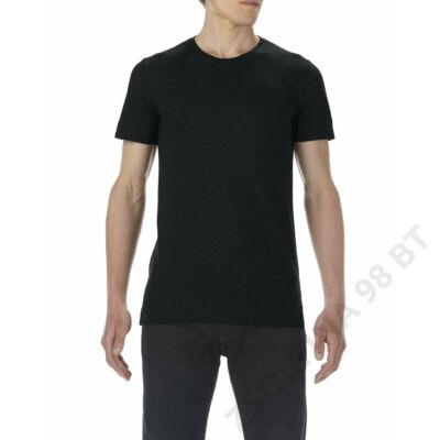 AN5624 ADULT FASHION BASIC LONG & LEAN TEE, Black