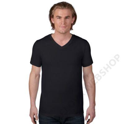 AN982 ADULT FASHION BASIC V-NECK TEE, Black
