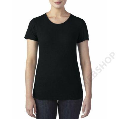 ANL6750 WOMEN'S TRI-BLEND TEE, Black