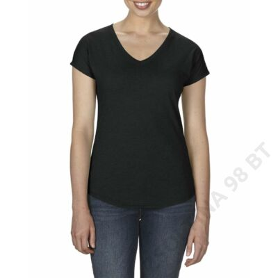 ANL6750V WOMEN'S TRI-BLEND V-NECK TEE, Black