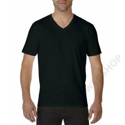 GI41V00 PREMIUM COTTON® ADULT V-NECK T-SHIRT, Black