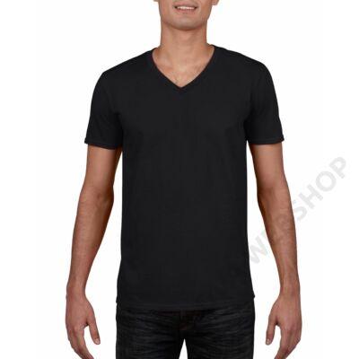 GI64V00 SOFTSTYLE® ADULT V-NECK T-SHIRT, Black