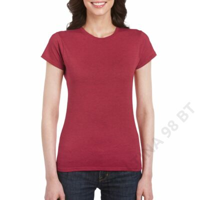 GIL64000 SOFTSTYLE® LADIES' T-SHIRT, Antique Cherry Red