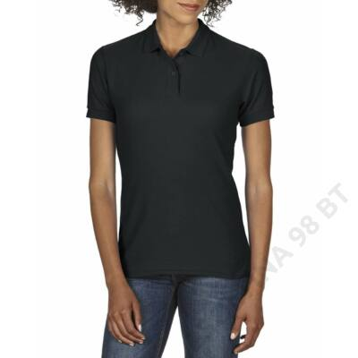 f847b35ca4 GIL75800 DRYBLEND® LADIES' DOUBLE PIQUÉ POLO, Black -Zsoltina 98 BT.
