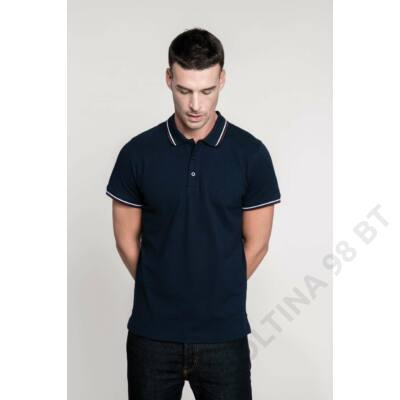 KA250 MEN'S SHORT SLEEVE POLO SHIRT, Black/Light Grey/White