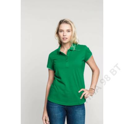 KA251 LADIES' SHORT SLEEVE POLO SHIRT, Black/Light Grey/White