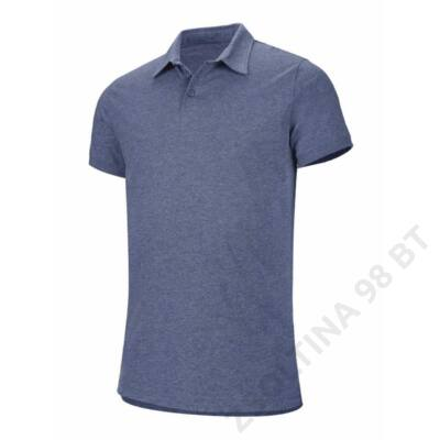 KA207 SHORT SLEEVE MELANGE POLO SHIRT, Blue Heather