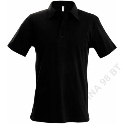 KA227 MEN'S SHORT SLEEVE JERSEY POLO, Black